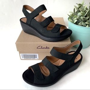Clarks Collection Reedly Juno Wedge Strap Sandal